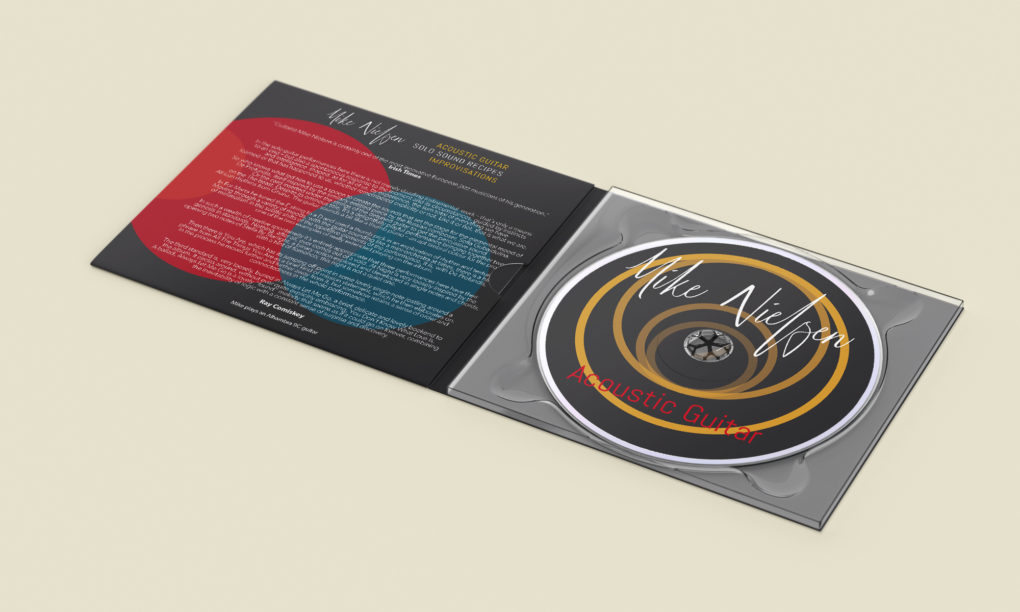 Mock-up of guitarist Mike Nielsen Digipak Design
